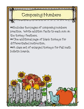 Thanksgiving Composing Numbers