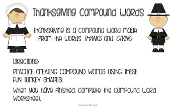 Thanksgiving Compound Words