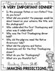 Thanksgiving Comprehension Activities