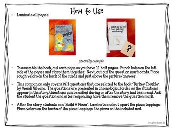Thanksgiving Comprehension Book Bundle