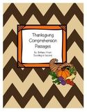 Thanksgiving Comprehension Passages