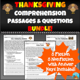 Thanksgiving Comprehension Passages and Questions