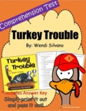 Thanksgiving Comprehension Test: Turkey Trouble- First or