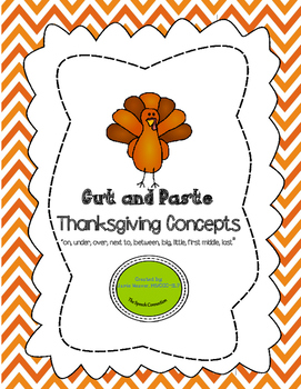 Thanksgiving Concepts Cut and Paste Activity