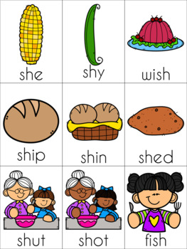 Thanksgiving Consonant Digraph Cards