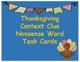 Thanksgiving Context Clue Nonsense Words