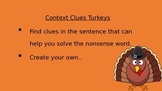 Thanksgiving Context Clues Turkeys