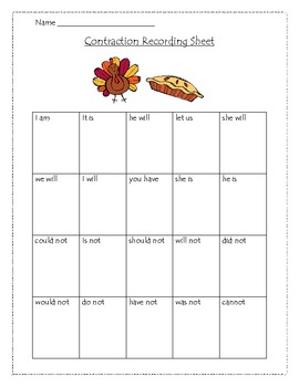 Thanksgiving Contraction Game