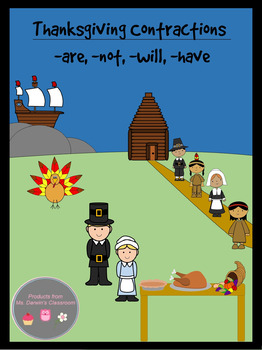 Thanksgiving Contractions (-are, -not, -will, -have)