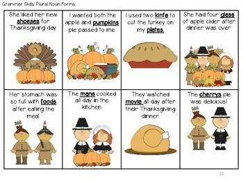 Thanksgiving Converation, Problem Solving, Vocab. & Grammar Packet