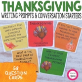 Thanksgiving Conversation Starters & Writing Prompts - Watercolor