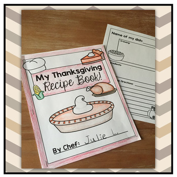 Thanksgiving Recipe Book Freebie!