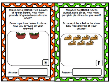 Thanksgiving Cooking - Special Education - Life Skills - Doubles - Halves