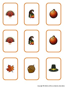 Thanksgiving Coordinate Game and Memory Cards