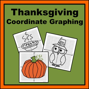Thanksgiving Coordinate Graphing Pictures Teaching Resources