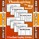 Thanksgiving - The Big Bundle - 12 Coordinate Graphing Activities