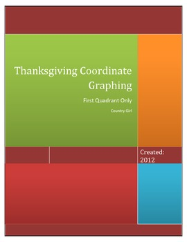 Thanksgiving Coordinate Graphing - First Quadrant Only - No decimals