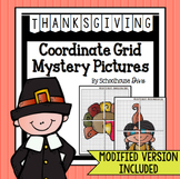 Thanksgiving Coordinate Graphing Mystery Pictures (5th - 9th)