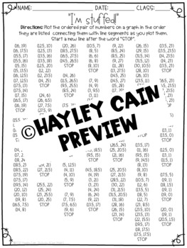 Thanksgiving Math Turkey Coordinate Graphing Mystery Picture