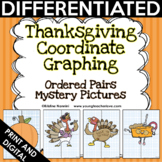Thanksgiving Coordinate Graphing Pictures Ordered Pairs {Mystery Pictures}