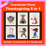Thanksgiving Coordinate Graphing Picture: Thanksgiving Bun