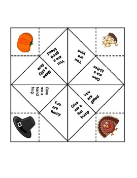 photograph about Printable Cootie Catcher called Thanksgiving Cootie Catcher through Scouts Lit Retail store TpT