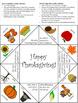 Thanksgiving Cootie Catcher