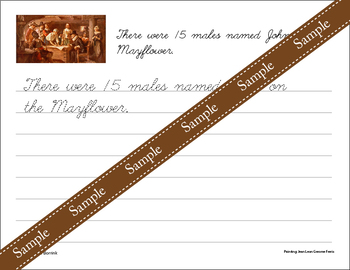 Thanksgiving Unit - Copywork - Cursive - Handwriting