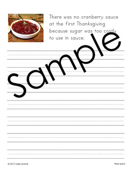 Thanksgiving Unit – Copywork – Print and Cursive - Handwriting