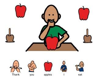 Thanksgiving Core Vocabulary Book