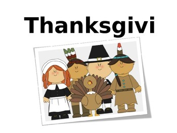 Thanksgiving Core Vocabulary book