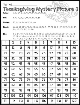Thanksgiving Corn 120 Chart Mystery Picture