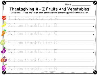 Thanksgiving Cornucopia Activity