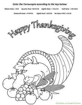 Thanksgiving Cornucopia Color-by-Note