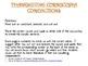 Thanksgiving Cornucopia Conjunctions - Complex Sentences