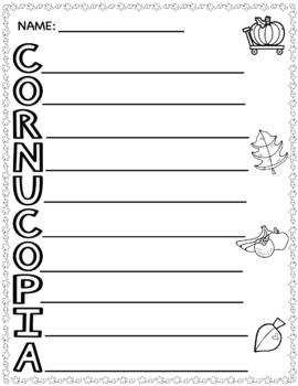 Thanksgiving Cornucopia Craft