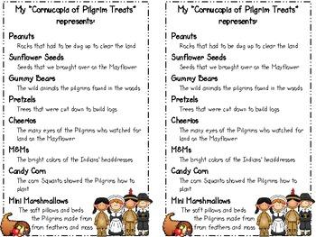 Thanksgiving Cornucopia (treat for students)