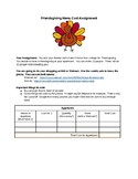 Thanksgiving Cost Assignment