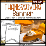 Thanksgiving Counseling Activity Pennant Banner