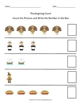 Thanksgiving Count 1-5