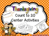 Thanksgiving Count Around Activities for Numbers 0-20 and 11-20