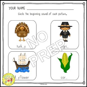 Thanksgiving Clip Task Cards