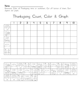 Thanksgiving Count, Color & Graph