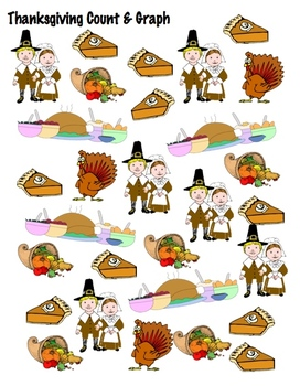 Thanksgiving Count & Graph  - Common Core Measurement & Data