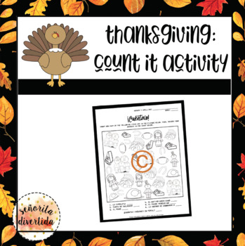 Thanksgiving Count It Activity