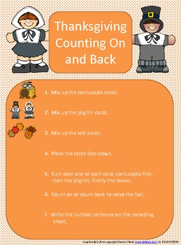 Thanksgiving Count On and Count Back Center