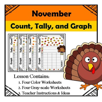 Thanksgiving - Count, Tally, & Graph