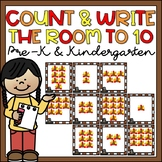 Count & Write the Room 1-10 Thanksgiving Activity for Kind