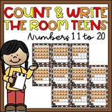 Count & Write the Room Teen Numbers 11-20 Thanksgiving Act