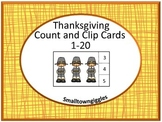 Thanksgiving Math Center Count and Clip Fine Motorp P-k, K, Special Education
